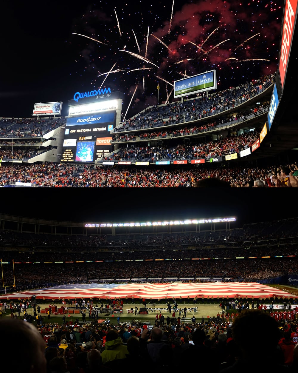 The Holiday Bowl at Qualcomm Stadium in San Diego, California.