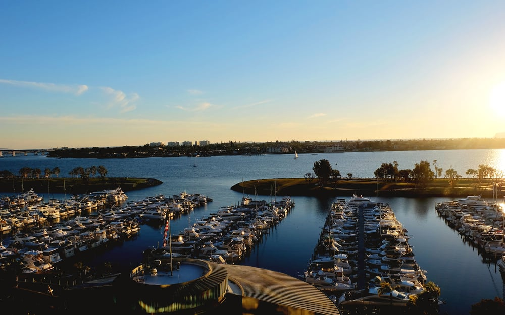 View from our room in San Diego at Marriott Marquis & Marina
