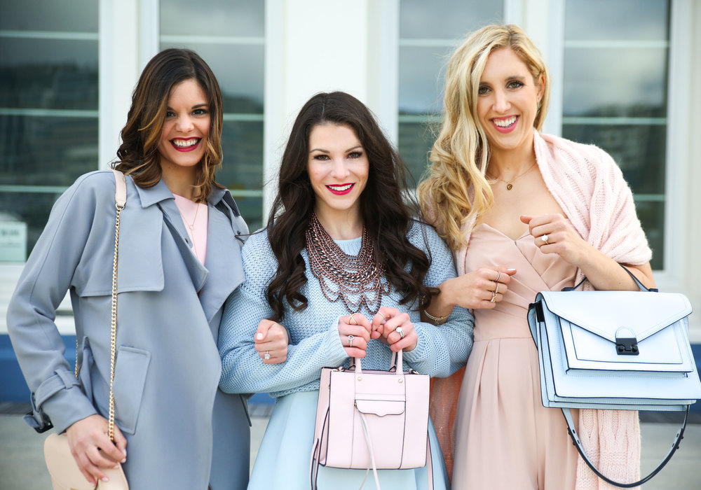 How To Wear Pantone Colors of The Year, Blogger Squad Goals, Serenity & Rose Quartz, Rebecca Minkoff Mab Mini, Loeffler Randall Rider, Baublebar Courtney Necklace