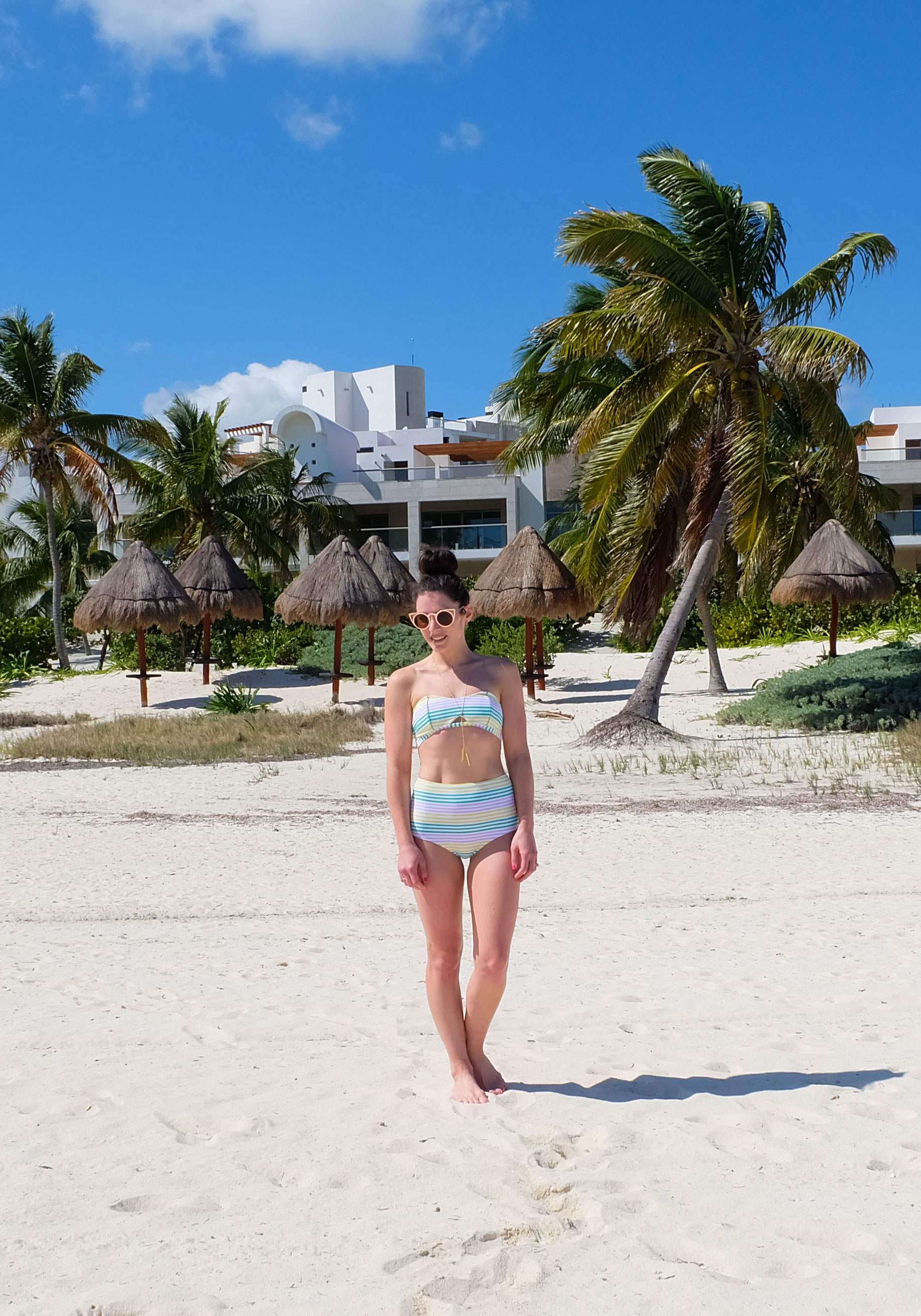 84c5dcf20c Vacation Outfit, Free People 100 Degree Dress, Aerie High-Rise Bikini Bottom  &