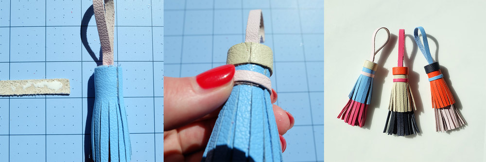 DIY Tory Burch leather tassel key fob!
