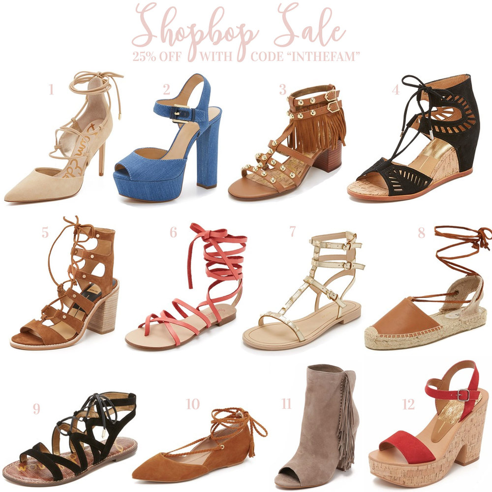 Shopbop Friends and Family Sale- The Best Sandals, Pumps, & Wedges for Spring and Summer 2016!
