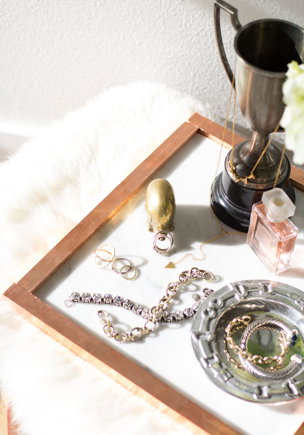 Diy for less marble jewelry tray me and mr jones for Sawyer marble jewelry stand