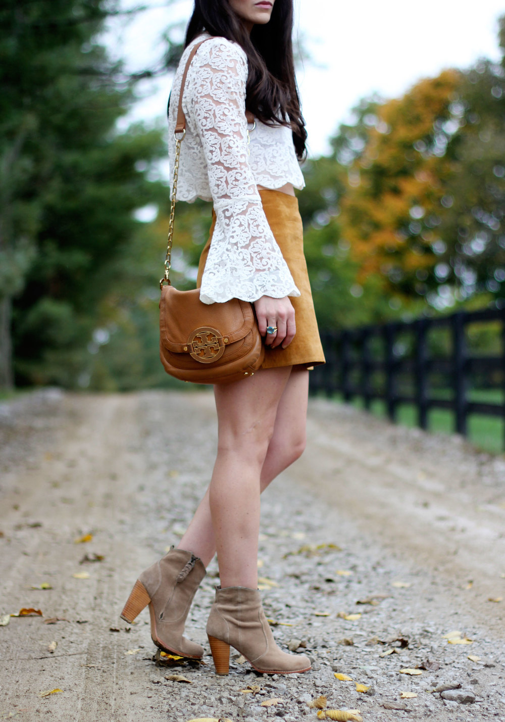 Almost identical Joie booties and a fabulous Tory Burch crossbody handbag are included in the sale!