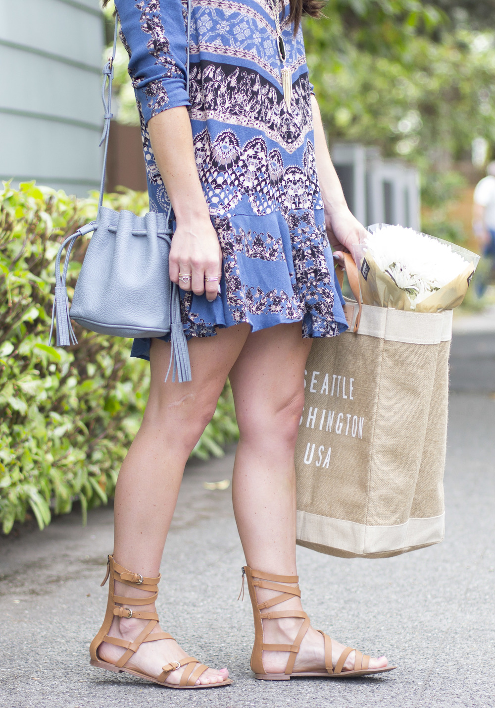 Back to school shopping for adults- the N Sale, Free People 'Smooth Talker' Top, Joe's Jeans Gladiator Sandals, Apolis City Market Tote, Kendra Scott Rayne Necklace