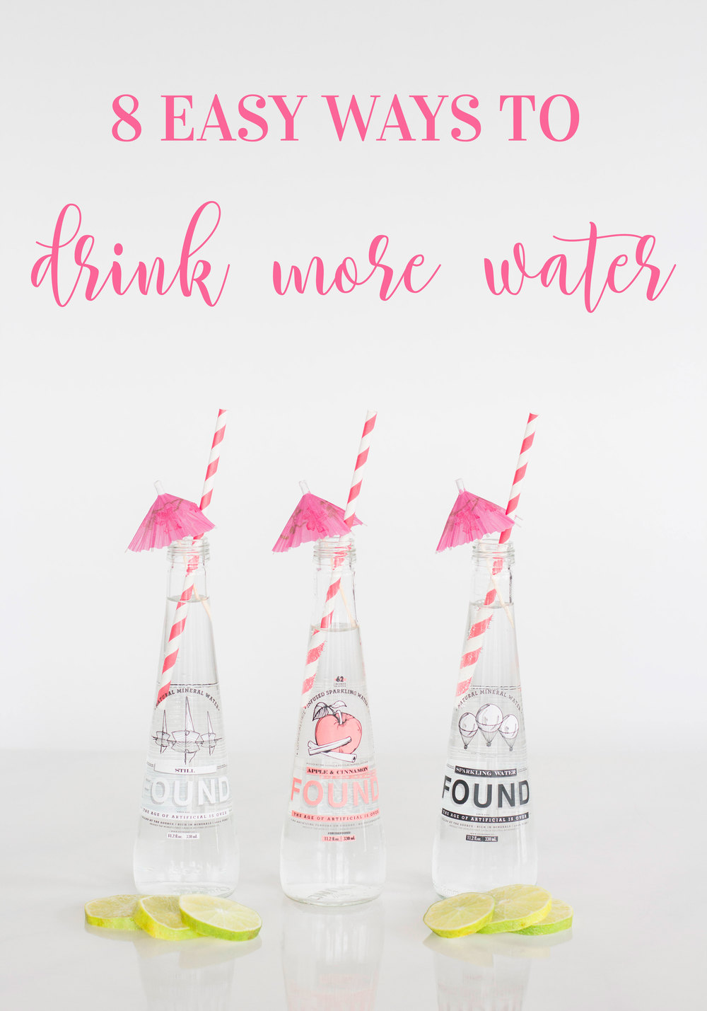 8 easy ways to drink more water everyday on www.me-and-mrjones.com!