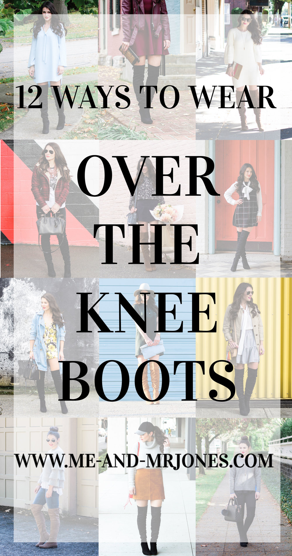 12 ways to wear over the knee boots, cute fall outfit ideas, Steve Madden Gorgeous boots, Steve Madden Eternul OTK boots