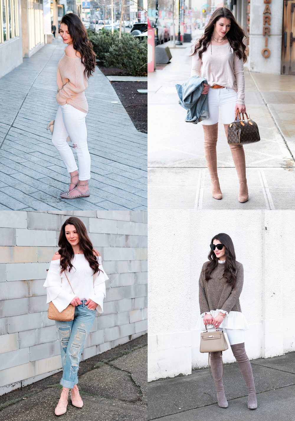 Cute spring outfits.  Early spring outfits that will keep you warm.  Outfits for a cold spring.
