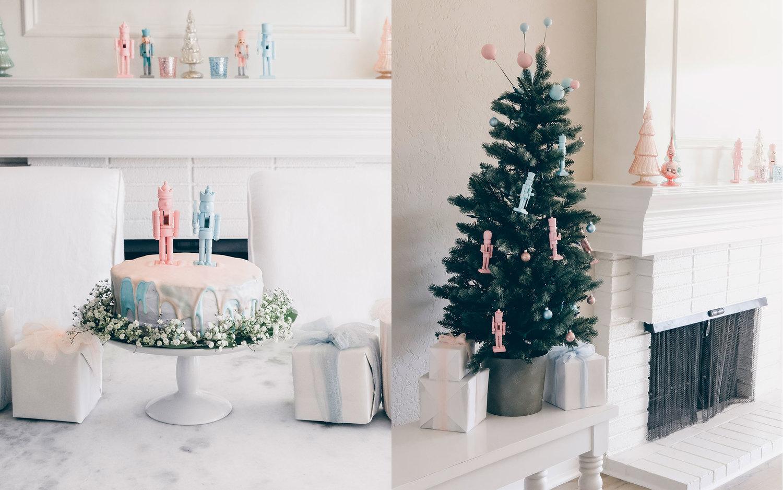 Christmas Gender Reveal Theme.Vintage Winter Wonderland Our Christmas Gender Reveal Party