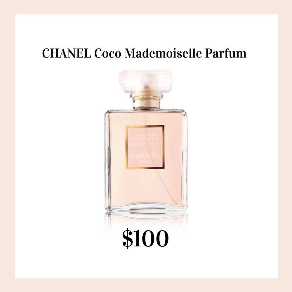 Favorite gifts for her.  Chanel Coco Mademoiselle parfum.