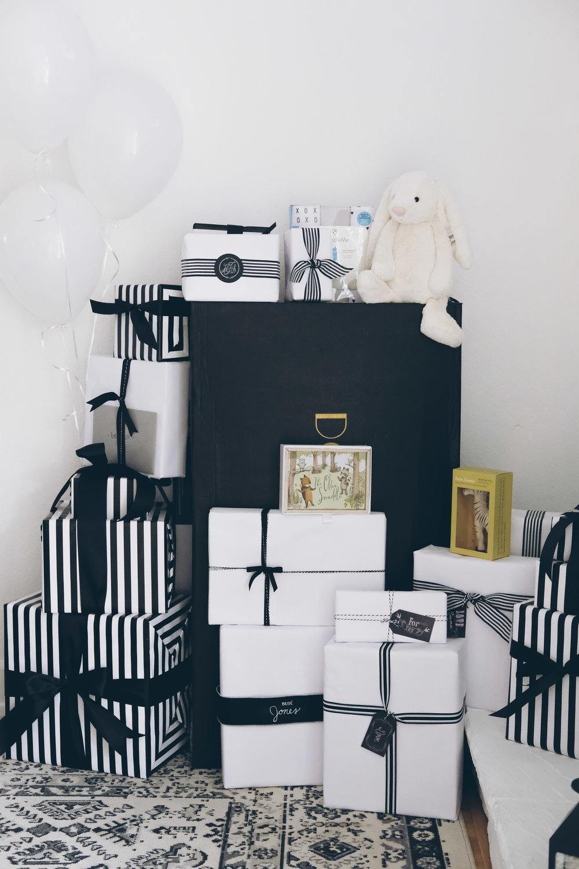 French Market Baby Shower.  Black and white boy baby shower.  French themed baby shower.  Neutral baby shower.