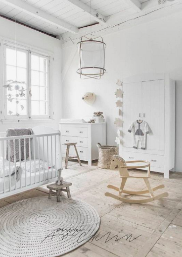 Neutral nursery ideas.  White nursery.