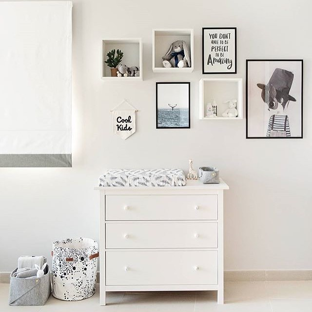 Neutral nursery ideas.  Black and white nursery.