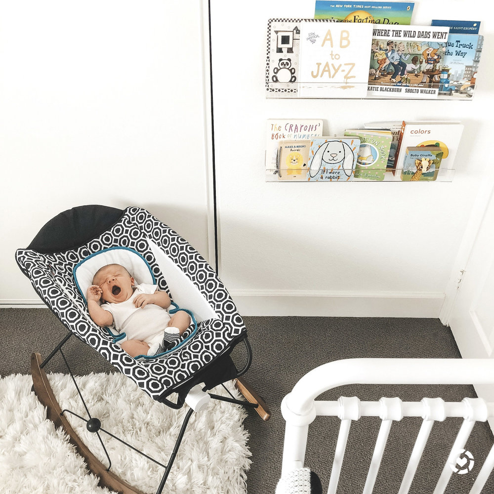 Newborn essentials.  Rock N Play Deluxe Jonathan Adler edition.