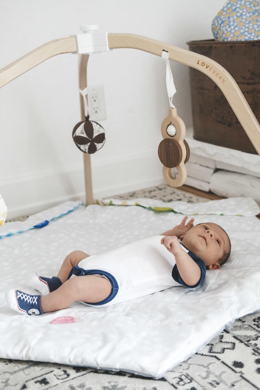 Newborn essentials.  Lovevery Play Gym.