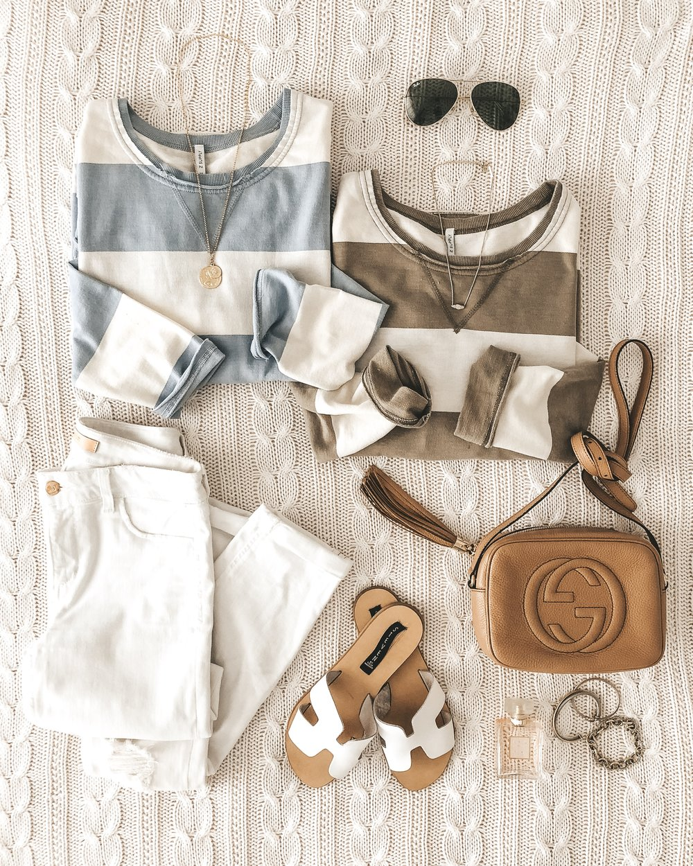 Cute spring outfits from Z Supply.  Stripe weekender tee tunic.