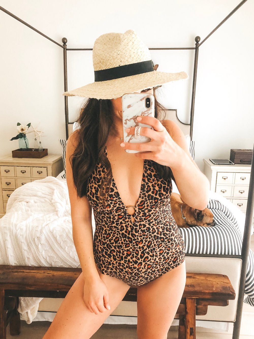 Best postpartum swimsuits from Target.  Affordable one piece bathing suit.