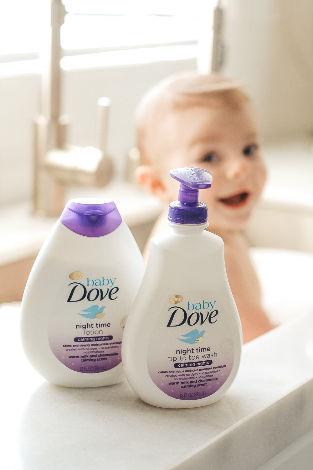 Dove Baby Calming Nights Wash and Lotion.
