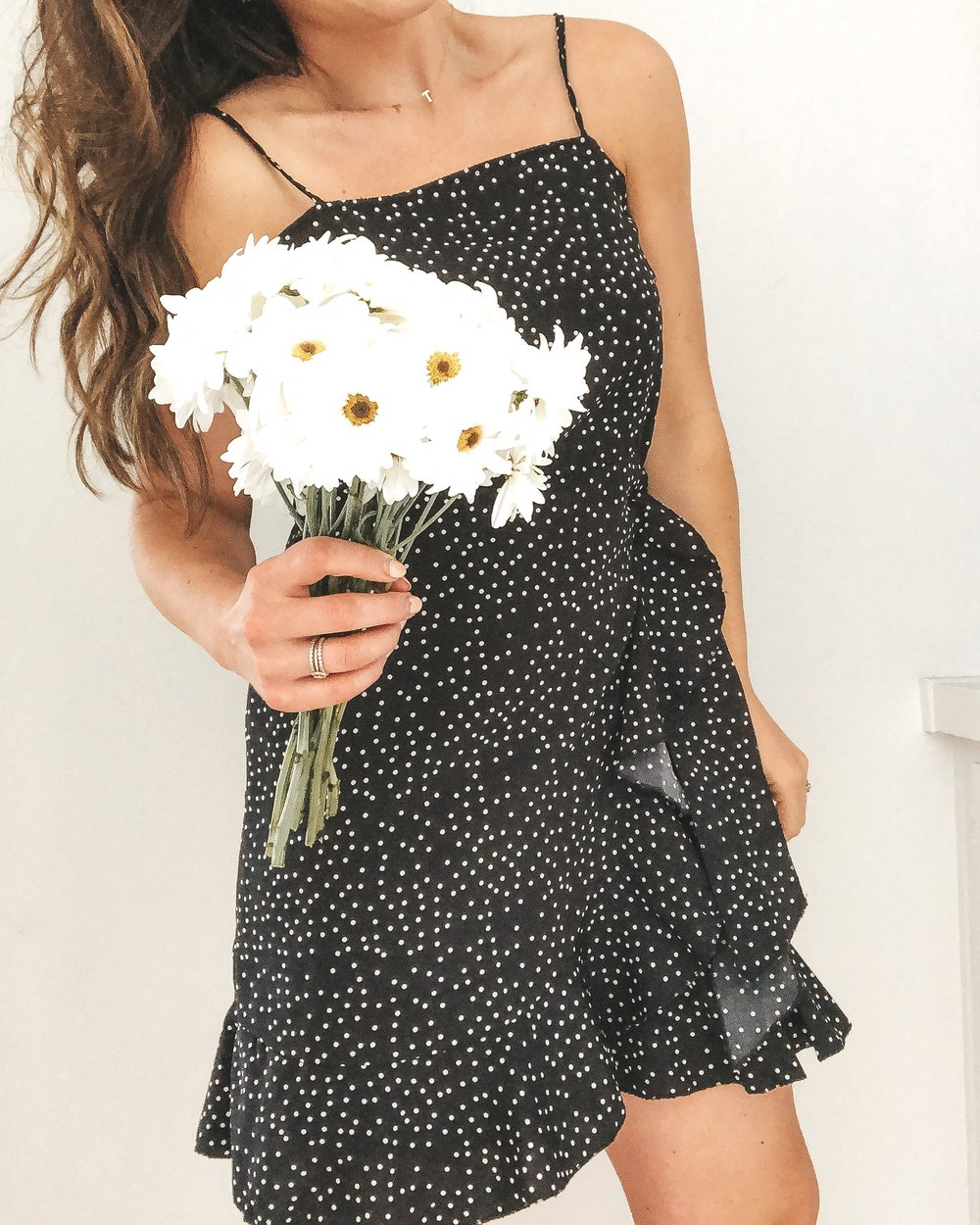 Amazon fashion finds.  Affordable fashion on Amazon.  Black and white polka dot dress for Easter.