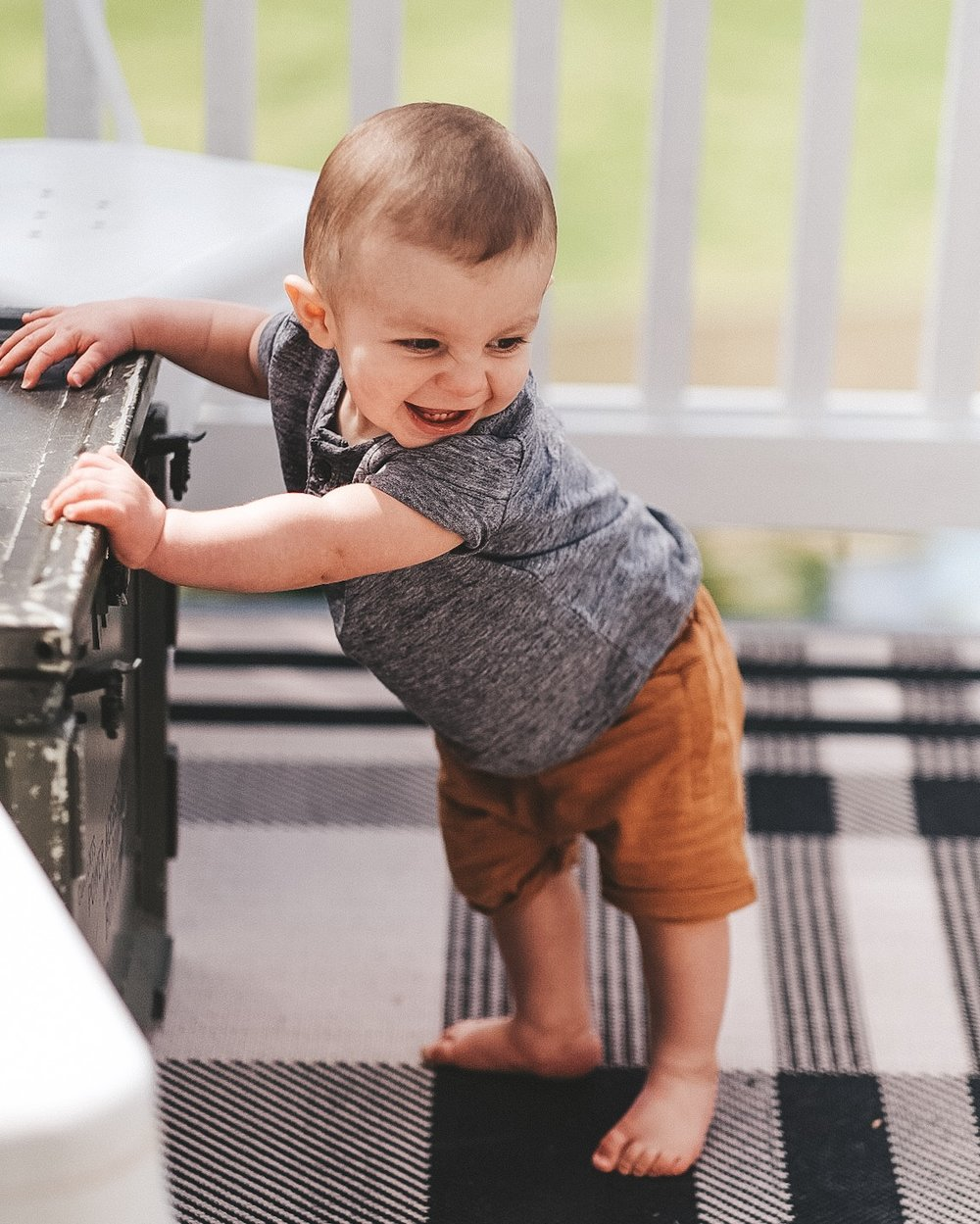 Jett Jones 11 Month Milestones.  Cute baby boy clothes for summer.