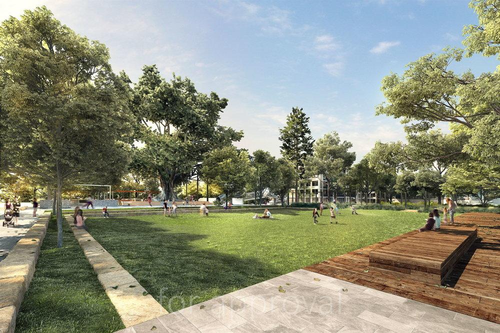 Ganellen_Newmarket_Public Park from Young St.JPG