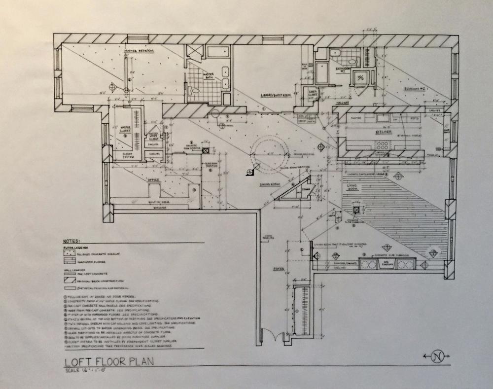 NYC LOFT CONSTRUCTION PLAN