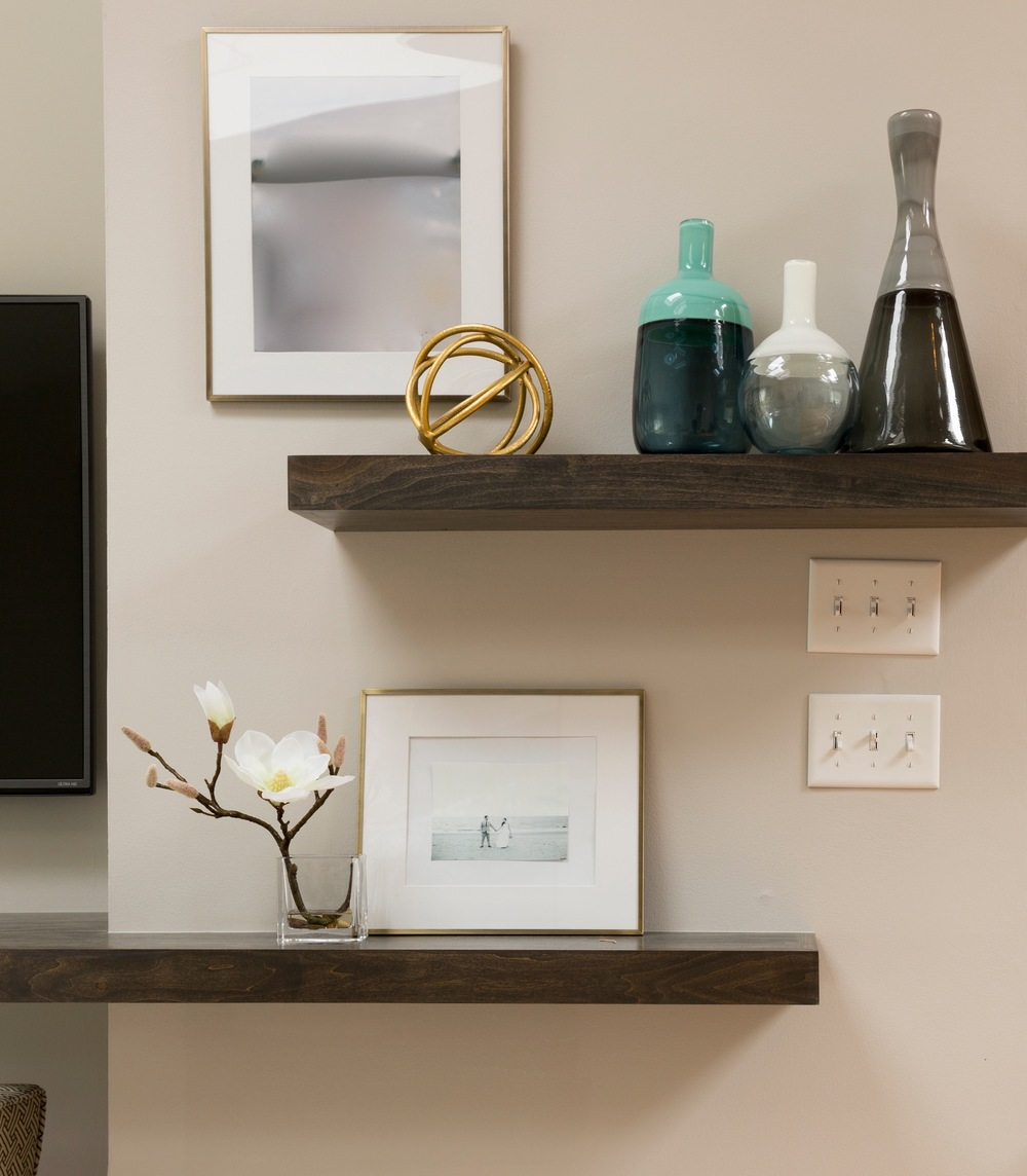 Southport Coastal Chic floating shelves