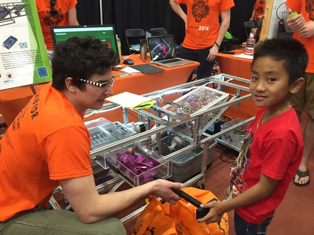 Robo-Composter prototype inspired by JJ Buffum and Subash Rai featured at Imagine RIT