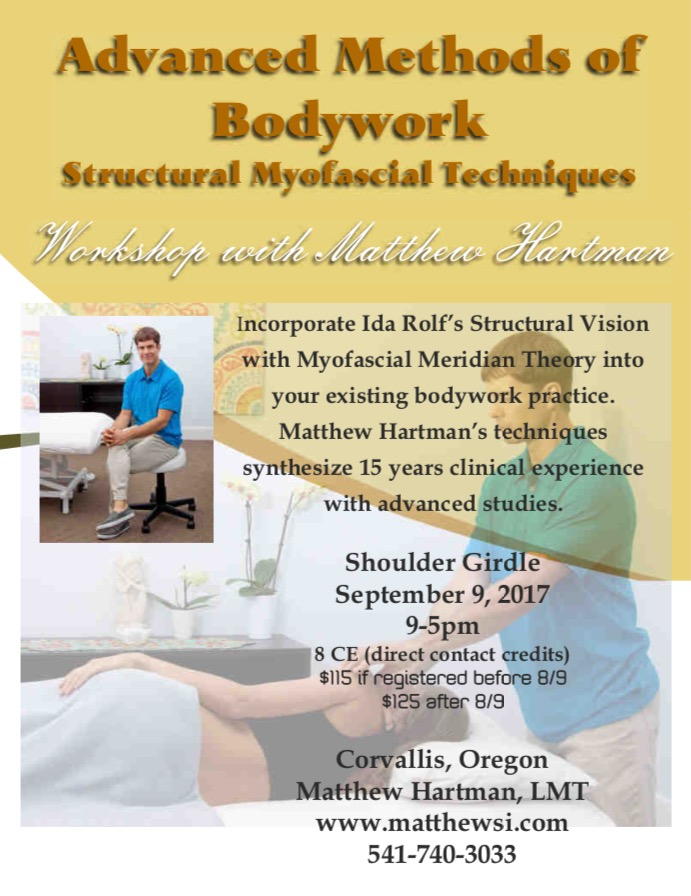 Workshop Location  Integrative Acupuncture  2727 NW 9th  Corvallis Oregon