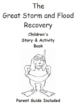 Cover of the Great Storm and Flood Recovery Coloring Book