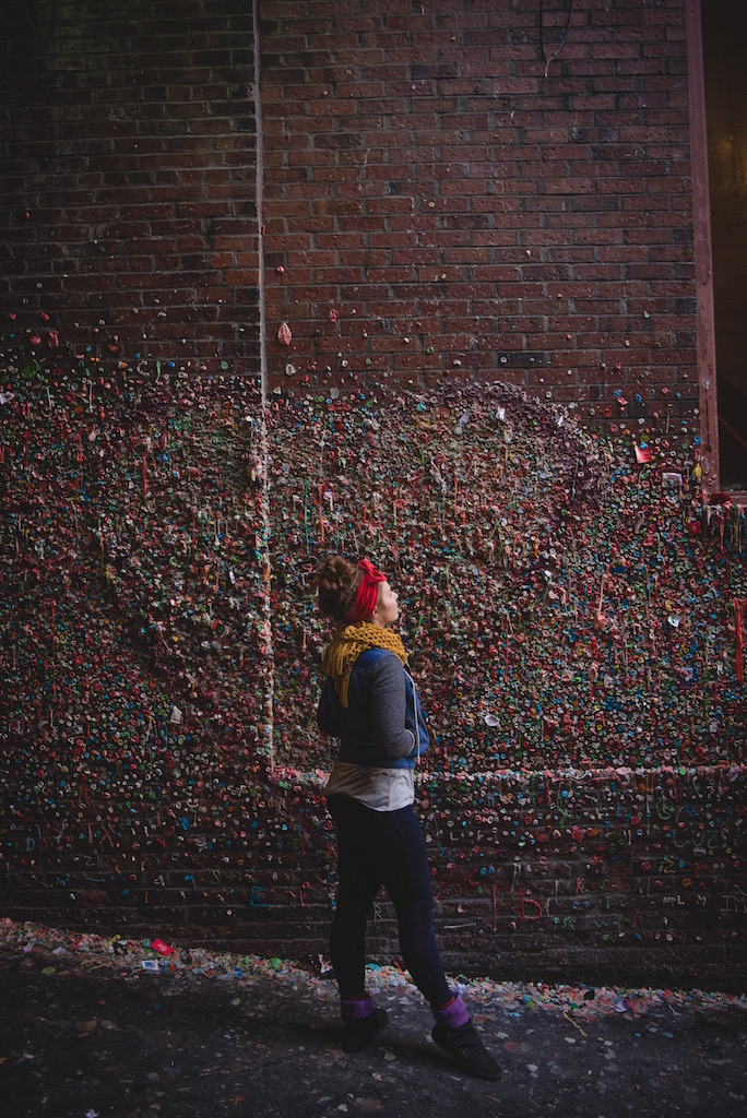 FINALLY got to see the infamous gum wall!!
