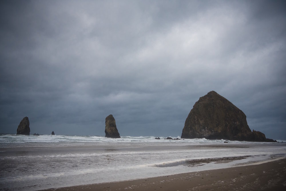 Haystack Rock where they filmed the Goonies!