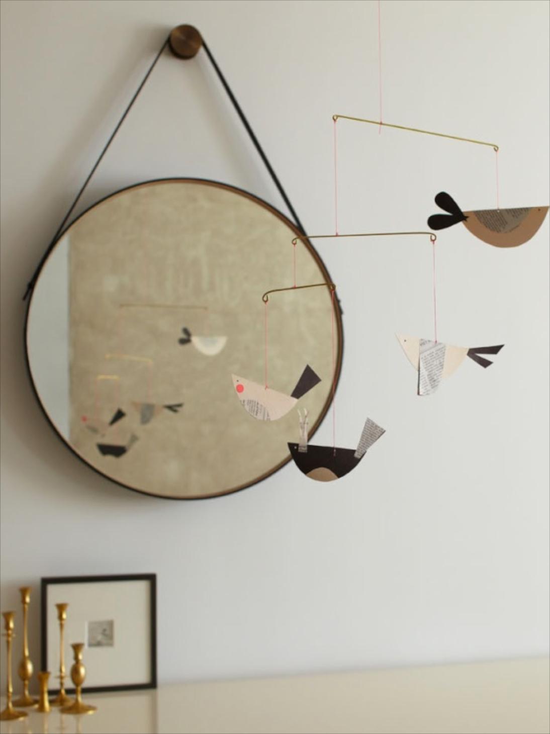 Circular convex mirrors fourth floor walk up for Miroir concave