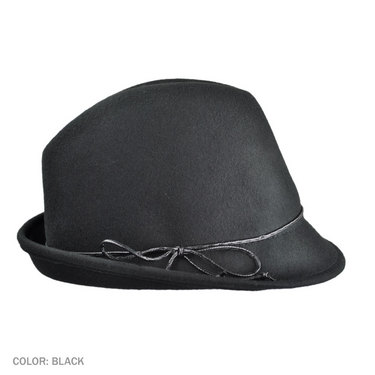fedora with leather bow
