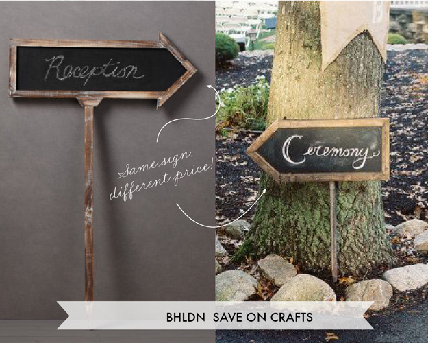 Sign to purchase from BHLDN or Save on Crafts