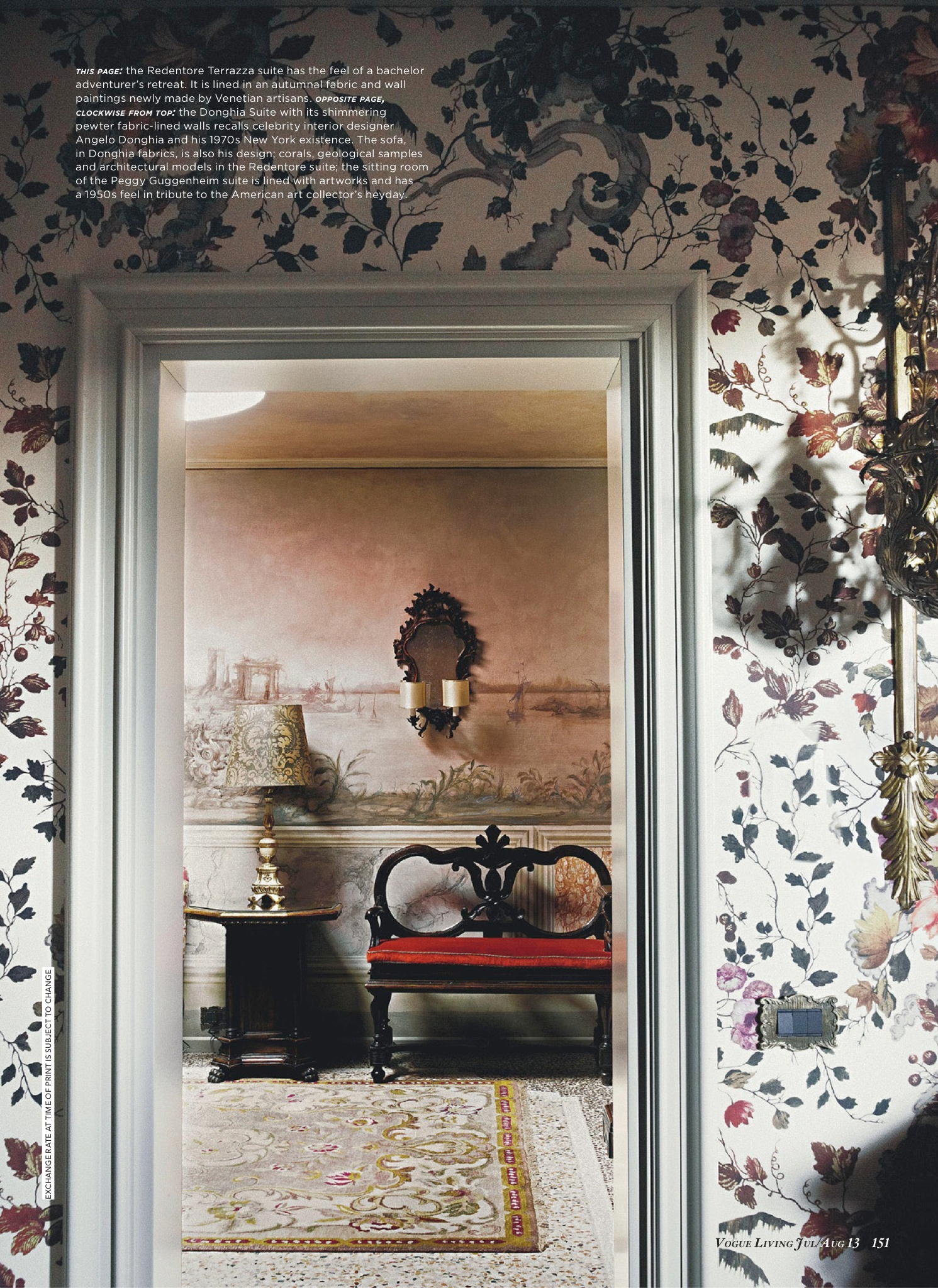 Gritti Palace Hotel - Venice - Vogue Living AUS, 2013