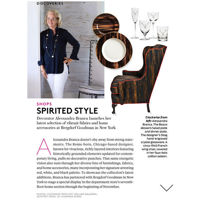Alessandra Branca as seen in Architectural Digest