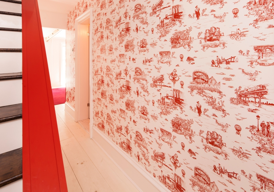 Brooklyn Toile in Mike Diamond's Townhome