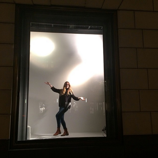 Kyle DeWoody within Empty Window - photo courtesy of Bergdorf Goodman
