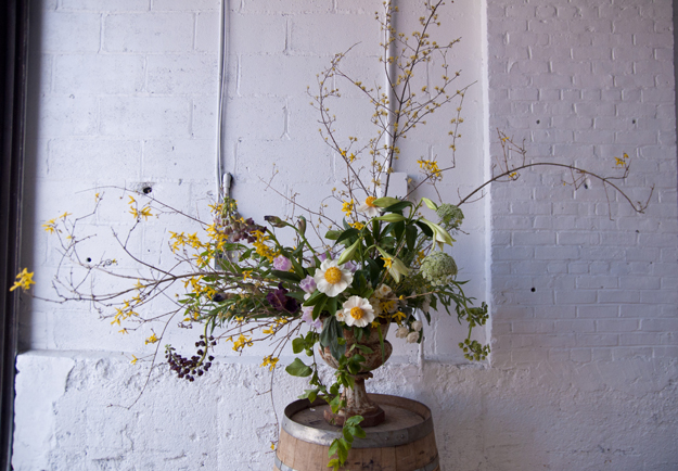 Arrangement by The Little Flower School Brooklyn. Photo by: Lauren L Caron