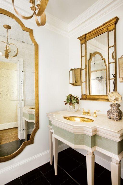 Brass & Gold Details | jhirschinteriors.com