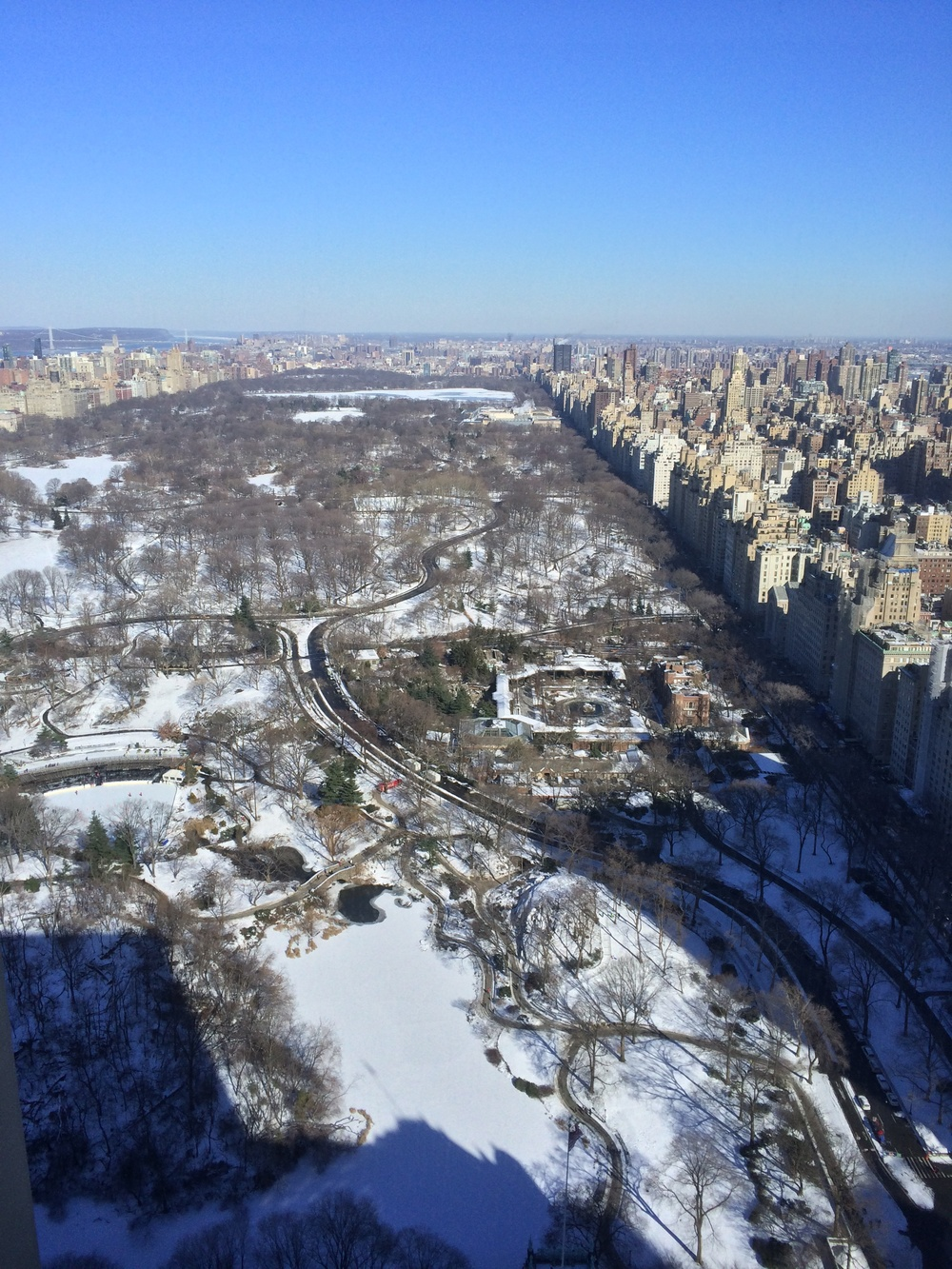 View from Chanel offices, Central Park in the snow - Photo by: Lauren L Caron