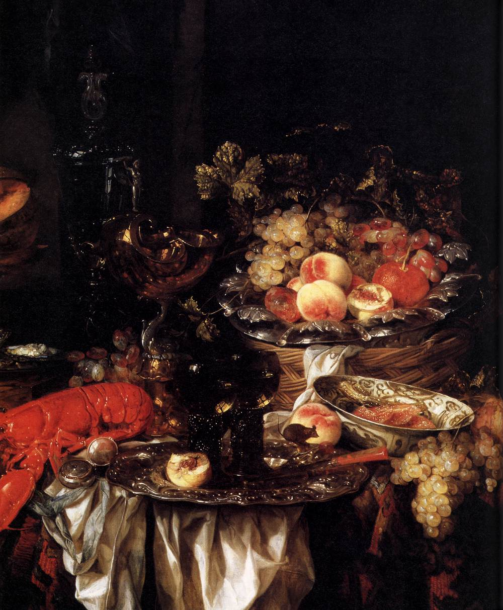 Abraham van Beyeren | Banquet Hall Still Life with a Mouse