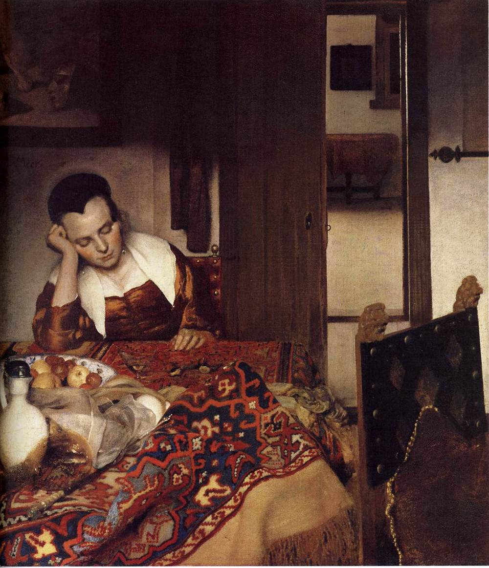 Johannes Vermeer | A Woman Asleep at Table
