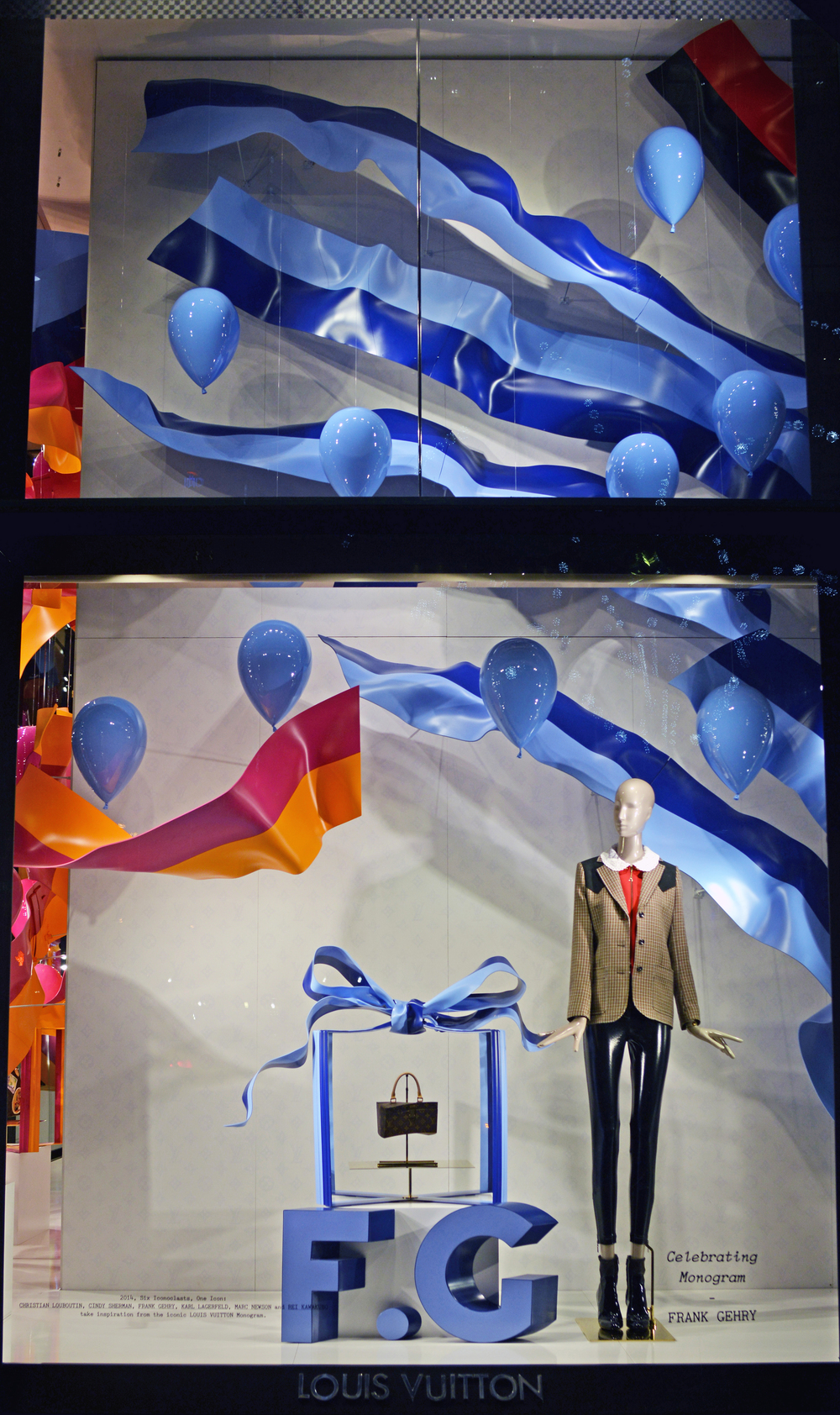Window Display for Frank Gehry - Louis Vuitton