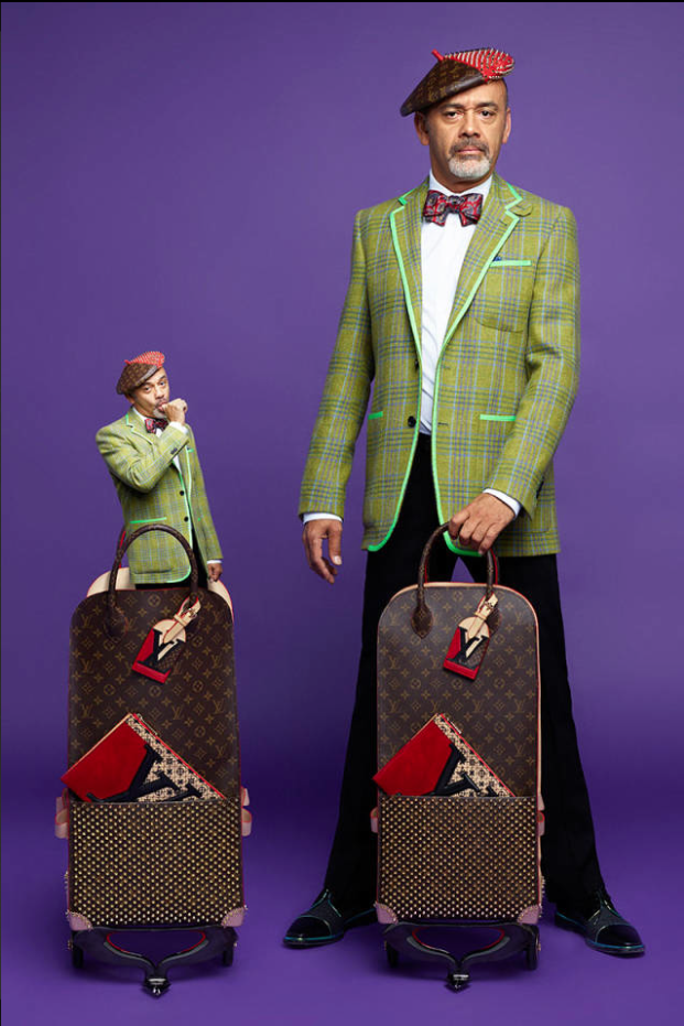 Christian Louboutin Design Luggage: Photo by Karl Lagerfeld
