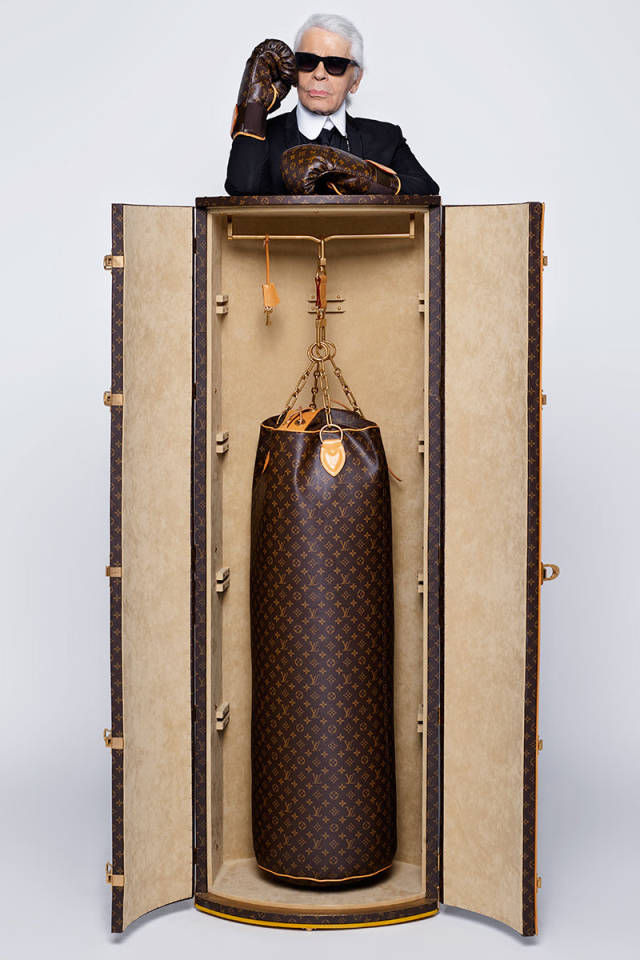 Karl Lagerfeld Punching Bag: Photo by Karl Lagerfeld