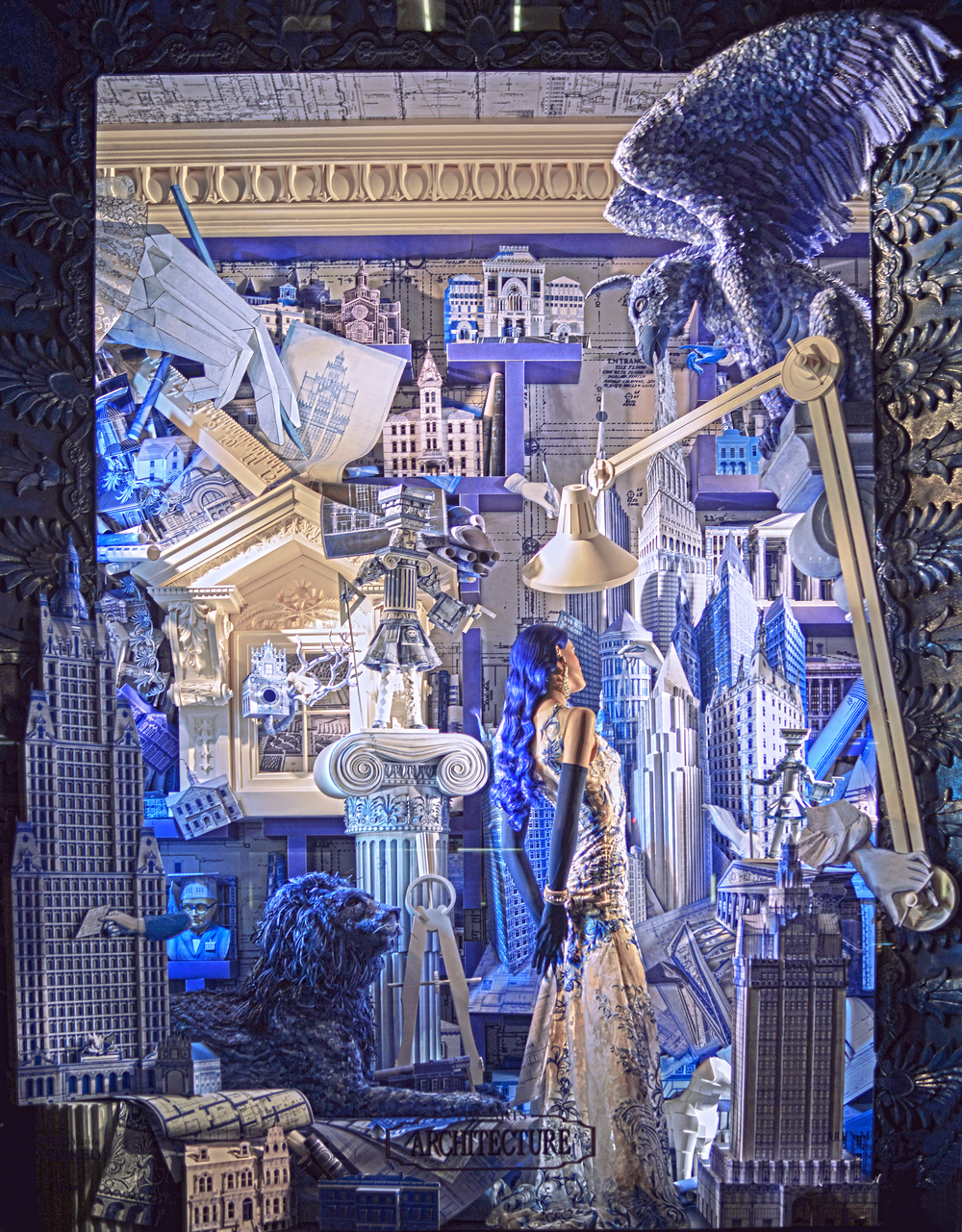 Bergdorf Goodman Window Display - Architecture | Lauren Caron © 2014