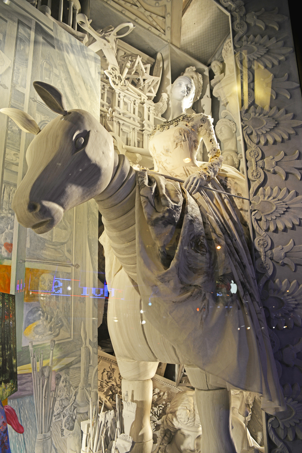 Bergdorf Goodman Window Display - Painting   | Lauren Caron © 2014