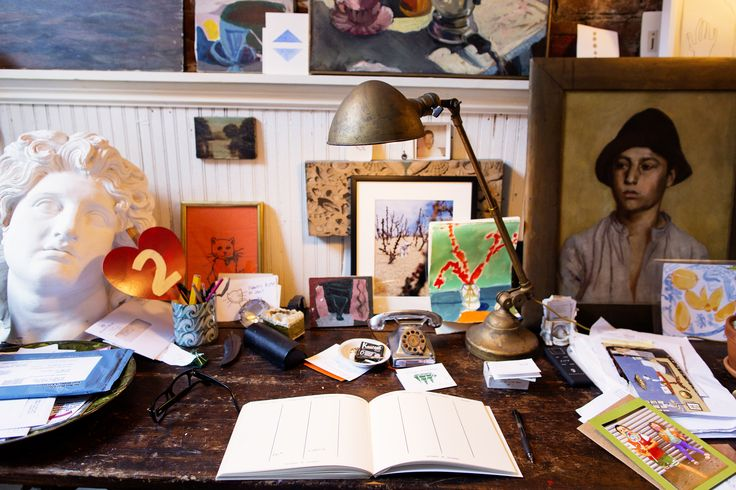 John Derian's Desk at Home | Photograph from TheSelby.com